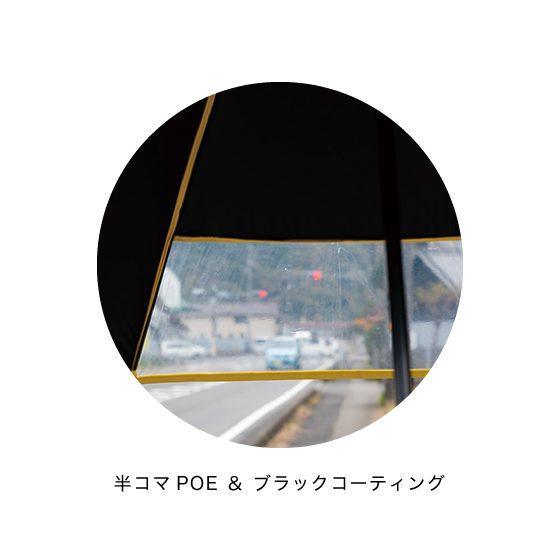 55cm ジャンプ ポンジ 無地 1コマ半POE 反射テープ ブラックコーティング/イメージ03